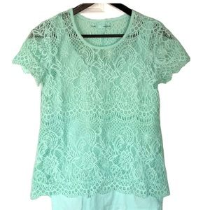 Maurices Lace Top- Size M